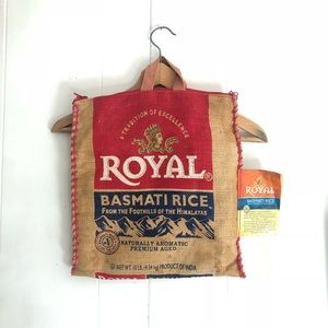 Eclectic Rice Bag Recycled into Handbag